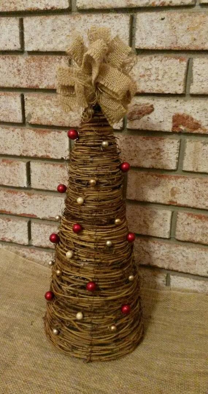 Items Similar To Grapevine Mini Christmas Tree Christmas