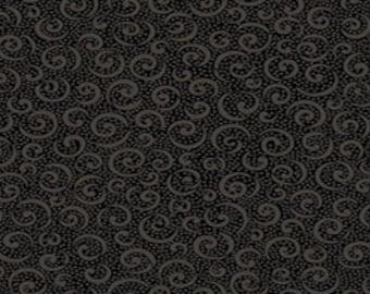Quilting Treasures Black 'Quilting Illusions' Curly Cue Fabric 208
