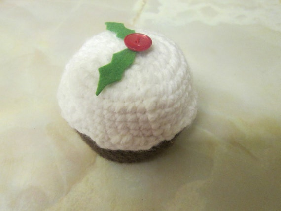 Knitting Pattern For Christmas Pudding To Cover Chocolate Orange : Handmade Crocheted Christmas Pudding Chocolate Orange