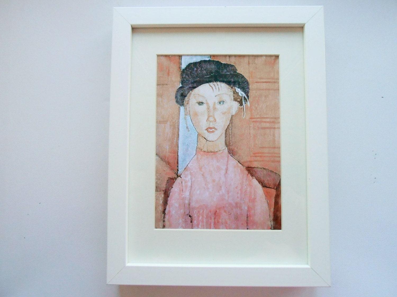 Amedeo Modigliani: 522 Print With Frame Amedeo Modigliani Art Art By