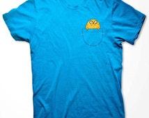 Adventure Time Jake in Pocket T-shirt Jake Finn funny cartoon Fan costume Shirts Hoodie Sweatshirts S-3XL