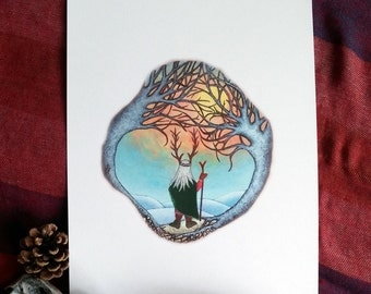 Winter Solstice A4 art print