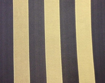 SHIPS SAME DAY Premier Prints Canopy Black And White Stripe Fabric - Black and gold stripe drapery fabric
