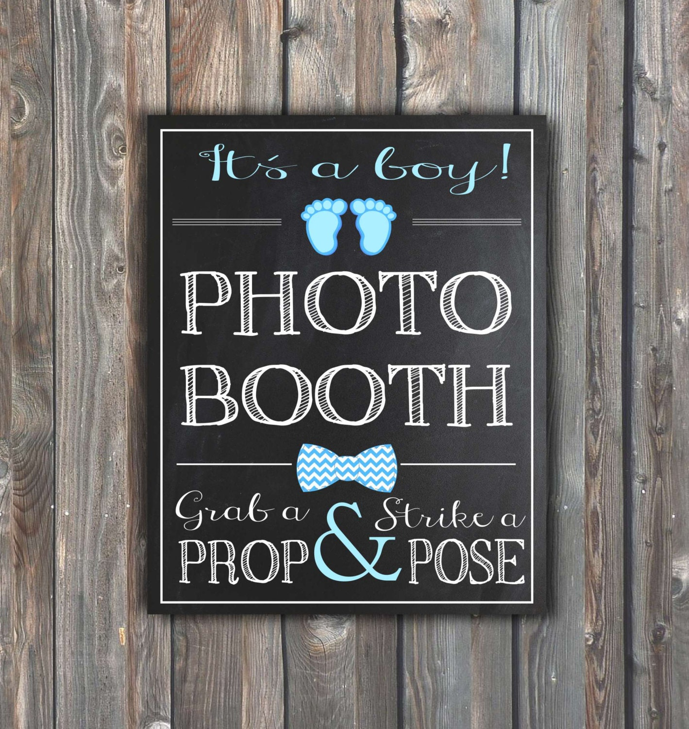 printable baby shower photo booth sign baby chalkboard