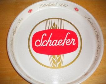 Schaefer-1950s-Vintage-Metal-Beer-Serving-Tray-Established-1842