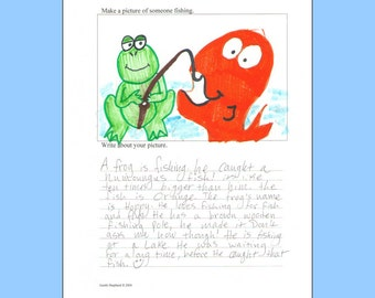 Picture and Writing -- Older Ages -- original artwork and creative writing prompts -- combine art and writing