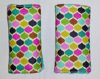 Reversible Infant Car Seat Strap Covers - Morrocan Tile