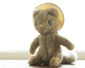 Furry Stuffed Cat with Sunhat, Eden Toys 1972,  Beatrix Potter's Tom Cat