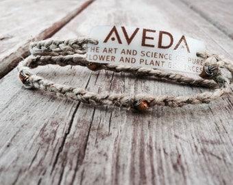 Aveda Double Wrap Braided Hemp Bracelet