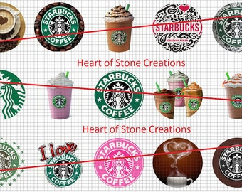 Starbucks Coffe Bottle Cap Image Sheet