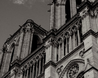Notre dame fine art photography print black and white for Notre dame home decor