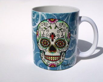 Festival of the Dead Sugar Skull Coffee Mug