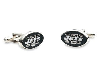 New York Jets NY Cufflinks Cuff Links Best man Groomsmen Wedding Gift Father's Day Graduation Dad Birthday Football