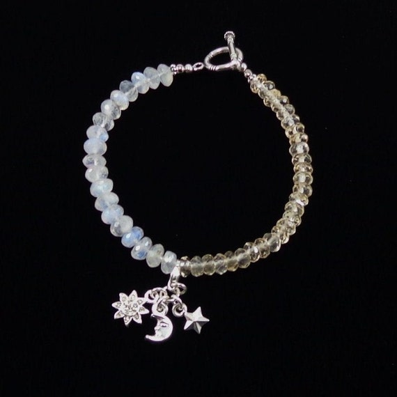 citrine and moonstone bracelet sun and moon by