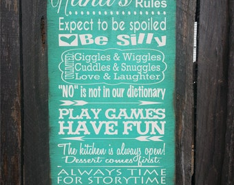 nana sign, nana gift, gifts for nana, nana's House Rules, gift for nana, Nana Christmas gift, Nana birthday gift, nana, 189