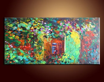 Large Painting Oil Painting Landscape Painting Original Painting Abstract Art Impasto Texture Oil Painting Palette Knife Oil Painting