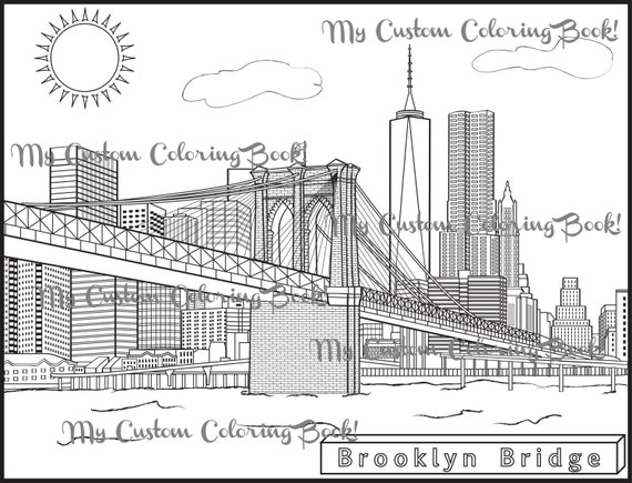 brooklyn bridge coloring pages - photo#2