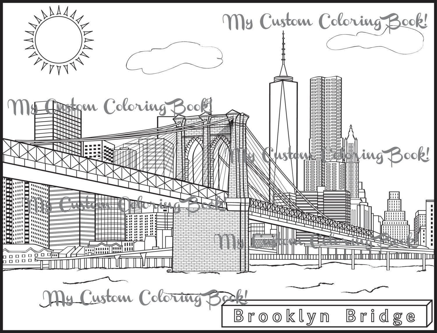 bridge coloring pages for kids - photo#22