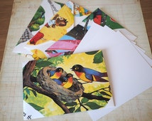 Recycled book envelopes handmade children's storybook set of 4 notecard