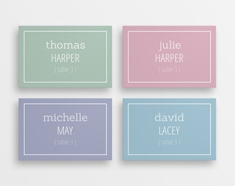 Simple wedding place cards - DIY wedding printable tent cards - DIGITAL DOWNLOAD