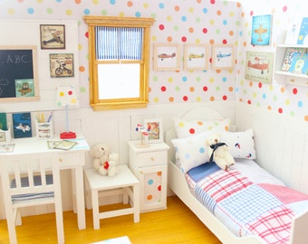 "Bedroom OOAK Diorama ""Fly up to the Sky"" Blythe/Pullip/BJD/Pure Neemo/Lati/Pukifee/Yosd"