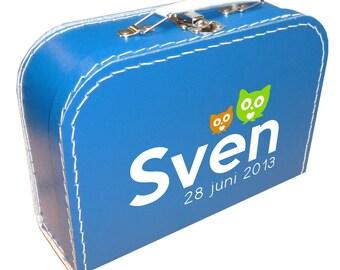 Briefcase, Birth Announcement Design
