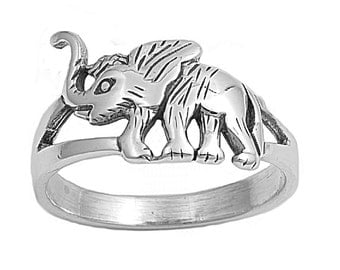 Elephant Ring 11MM Sterling Silver 925