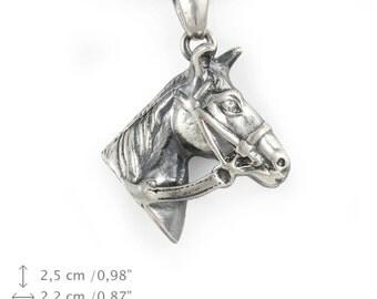 Fresian Horse, silver hallmark 925, horse silver necklace, limited edition