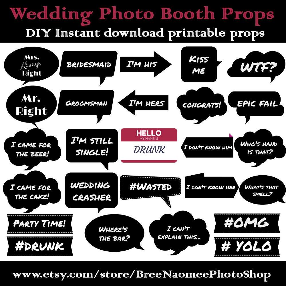 wedding photo booth props pdf