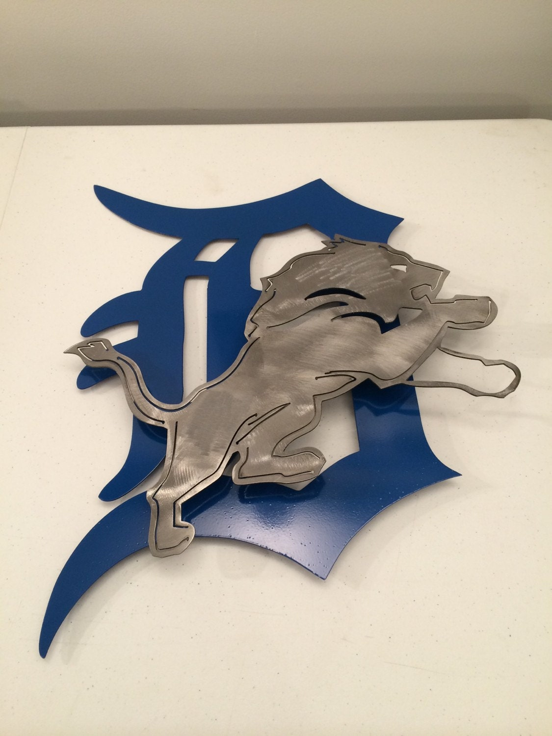 Detroit Lions 2d Wall Art Metal Sign Custom By Metalartdesignz & Detroit Lions Wall Art - Elitflat