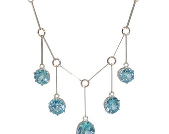 1930s Blue Zircon Necklace
