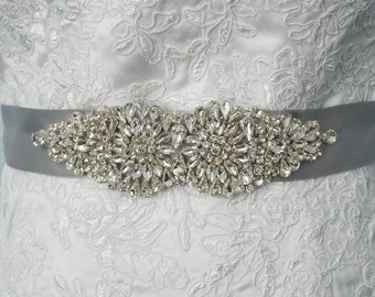 Wedding Belt, Bridal Belt, Sash Belt, Crystal Rhinestone Belt, Style 145