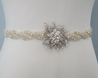 Wedding Belt, Bridal Belt, Sash Belt, Crystal Rhinestone, Style 1120