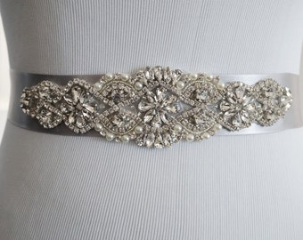 Wedding Belt, Bridal Belt, Sash Belt, Crystal Rhinestone Belt, Style 140
