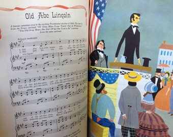 The Fireside Book of Favorite American Songs, 1952 Simon and Schuster. A collection of about 160 songs with piano music and illustrations