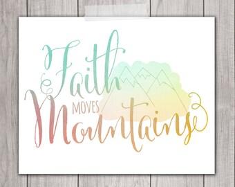 75% OFF SALE - 8x10 Inspirational Print, Faith Art, Printable Art, Home Decor, Christian Printable Art, Inspirational Quote