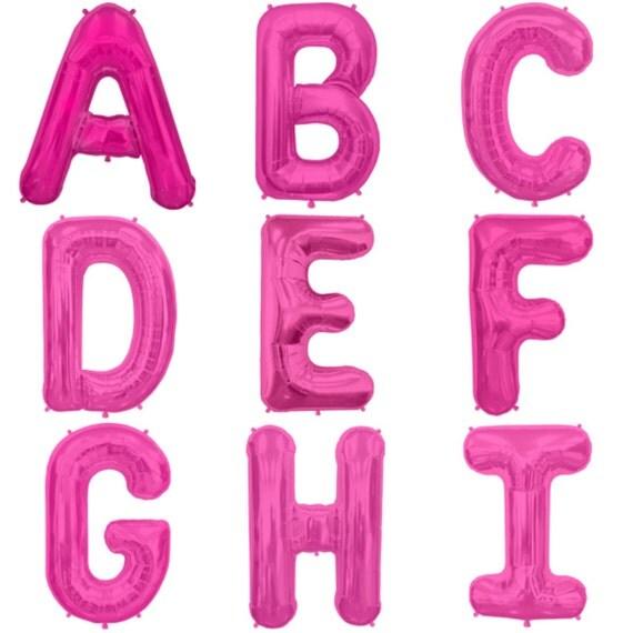 34 pink foil alphabet letter balloons jumbo giant With giant pink letter balloons