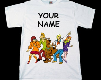 Scooby Doo Personalised Kids Tee T-Shirt T Shirt