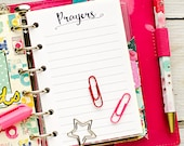 "Pocket planner insert printable - Prayers (measures 3.2""x4.7"")"