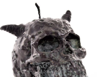 Horned Skull Candle Patchouli Scented