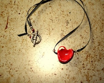 Shiny Red Heart Necklace 3