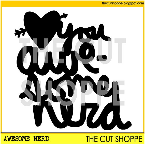 The Awesome Nerd cut file is a title phrase, that can be used on your scrapbooking and papercrafting projects.