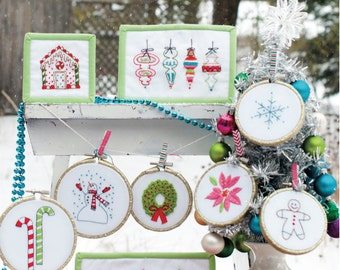 Christmas Sampler Hand Embroidery Pattern and Finca Floss