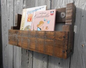 Pallet Book Shelf - Early American Dark