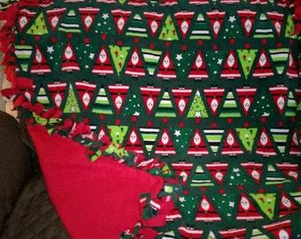 Christmas Tree No Sew Fleece Blanket