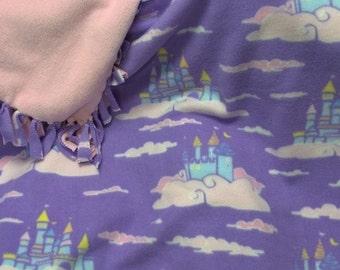 Princess Castles in the Sky No Sew Fleece Blanket