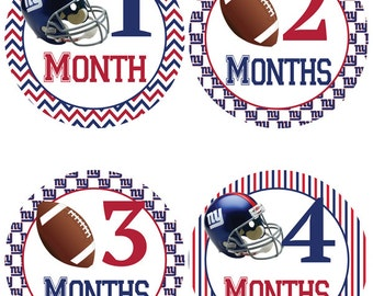 New York Giants Baby Milestone Stickers - Football Baby Belly Stickers (347)