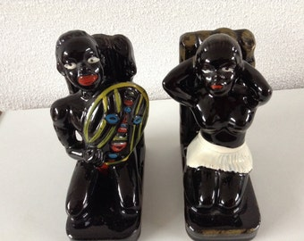Vintage Black Americana bookends 1940's 1950's