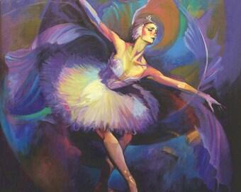 Ballerina by Hendrick Gil - Canvas Art Print (12x12)