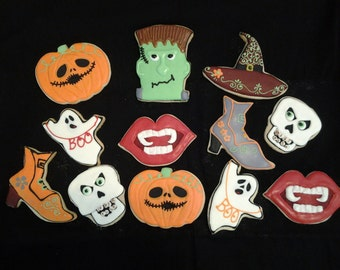 24 Tasty Halloween vanilla cookies